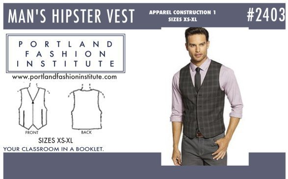Men's Hipster Vest Pattern Cover