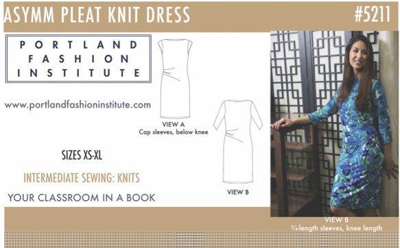 Asymm Pleat Knit Dress Pattern Cover