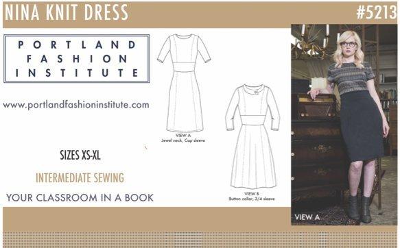 Nina Dress Pattern Cover