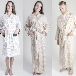 3 models wearing a different variation of the Adult Robe
